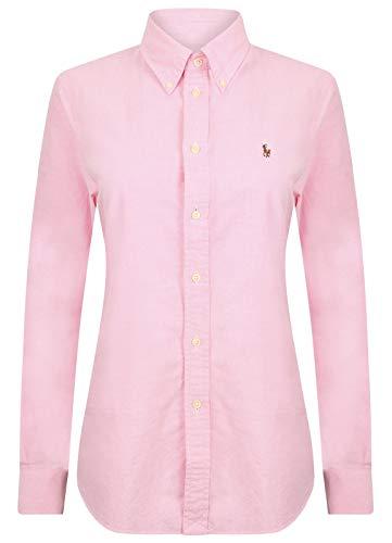 Ralph Lauren - Camisa de algodón para mujer rosa XL