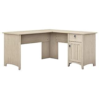 Bush Furniture Salinas L Shaped Desk with Storage in Antique White (B0799DQZBM) | Amazon price tracker / tracking, Amazon price history charts, Amazon price watches, Amazon price drop alerts