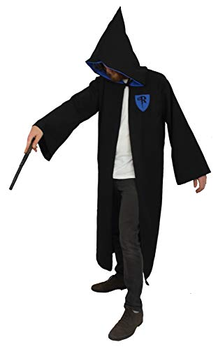The Dragons Den Wizard School House - Disfraz de Ravenclaw, color negro