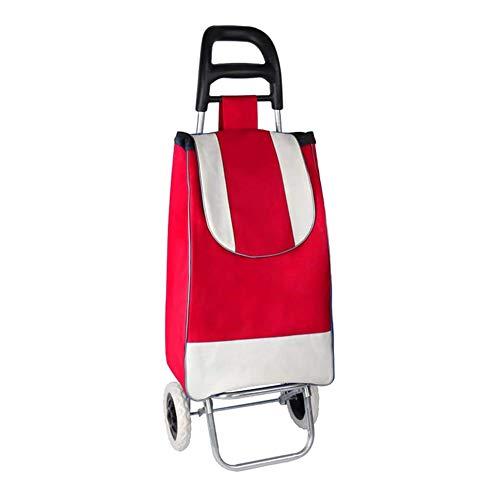 JUANstore Laptopwagen A Double Stroller Räder Mit Leiter Klettern Und Funktion Impermeabileadatto Den Einkaufs Spending,Red Black Handle