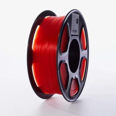 Printer Accessories 3D Printer PLA Filament 1.75mm for 3D Printers, 1kg(2.2lbs) +/- 0.02mm Transparent-red Color Printer Supplies (Color : Transparent red) (Color : Transparent red)