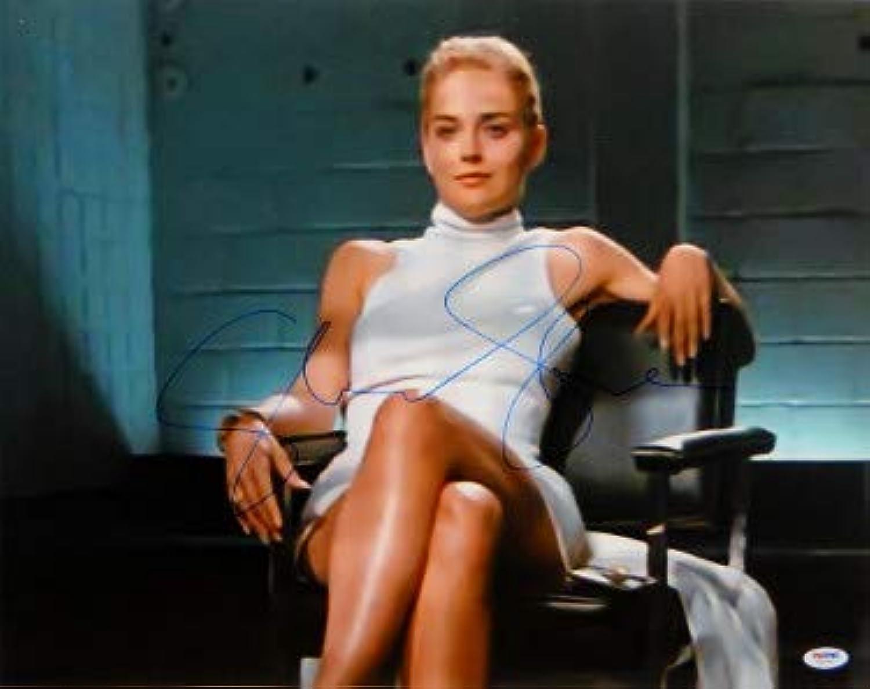 Sharon Stone signed Basic Instinct 16X20 Photo Famous Leg Crossed HorizontalPSA ITP Holo (entertainment movie memorabilia)