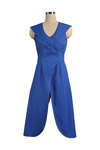 Yeweiwenhua Berühmt Film-Charakter Blau Kleid Cosplay Kostüm Karneval (Blau, L)