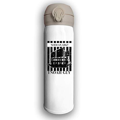 LZHANDA Thermosflasche,Bounce Cover Designed Need an Ark I Noah a Guy with Noah's Ark Catholic,Leak-Proof Vaccum Cup,Travel Mug with Stainless Water Bottle,Sports Drinking Bottle Fashion
