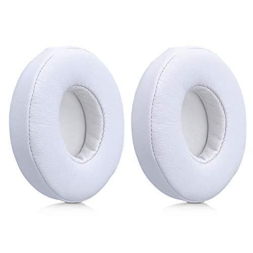 kwmobile 2X Almohadillas compatibles con Beats Solo 2 Wireless / 3 - Almohadilla de Repuesto de Cuero sintético para Cascos Auriculares