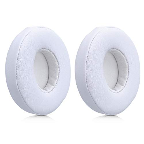 kwmobile 2X Ohrpolster kompatibel mit Beats Solo 2 Wireless / 3 Kopfhörer - Kunstleder Ersatz Ohr Polster für Overear Headphones