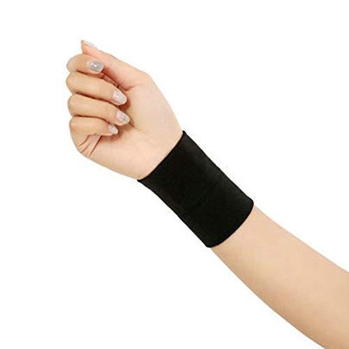 Egurs 1 Paar Handgelenkschutz Elastisch Handgelenkstütze Sports Armband Handgelenkschoner Gegen Sehnenentzündung-Damen und Herren für Fußball Volleyball Basketball Tennis Gymnastik L