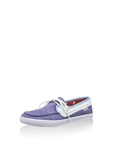 Vans Womens Chauffette Comfort Boat Shoes Blue 10