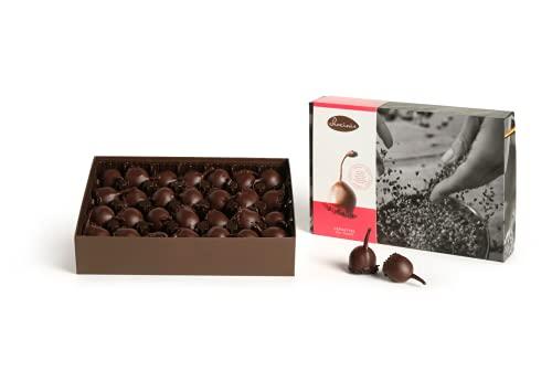Chocinis Premium Chocolates de licor en chocolate oscuro, 28 cerezas en licor en chocolate fondant belga, Cerisettes 450g