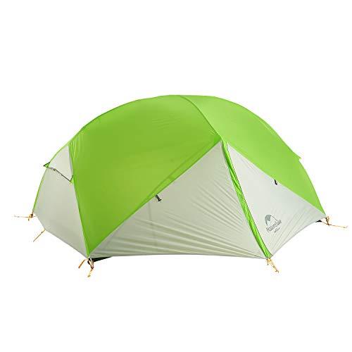 Naturehike Mongar Ultraleichte 2 Personen Zelt 20D Silikon doppelten Camping Zelt (Hellgrün/Grau)