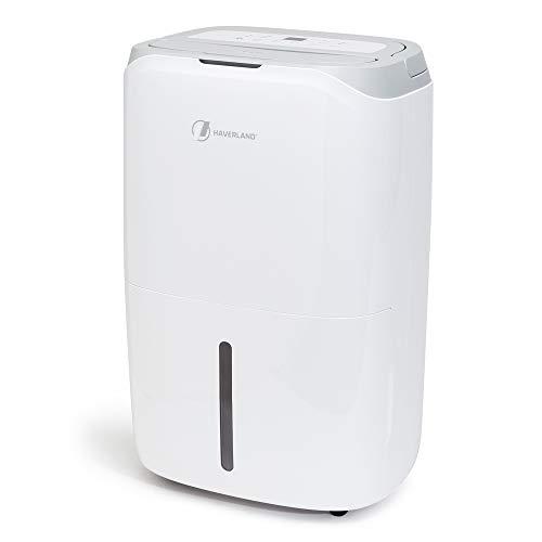 Haverland DES19 | Deshumidificador 20 Litros/Día | GRAN Deposito de 6,5 Litros | Con Asa y Ruedas | Ayuda a Secar la Ropa y a Purificar el aire con filtro HEPA y carbón activo