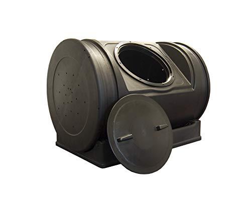 Good Ideas Compost Wizard Jr Outdoor Garden Compost Bin Container, Black