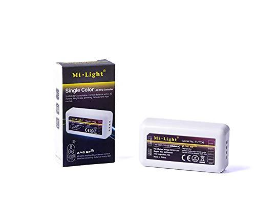 KingLed- Mi-Light, Contrôleur Dimmer LED Monocouleur, 2.4GHz Sans Fil, FUT036, Code 0848