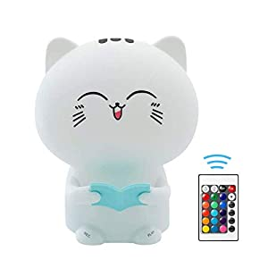 LED Nursery Night Lights for Kids, Rolilink Cute Animal Silicone Baby Night Light with Touch Sensor – Soft Silicone Nightlight USB Rechargeable Baby Girl Boys Gifts, Xmas Gifts for Toddler Kids