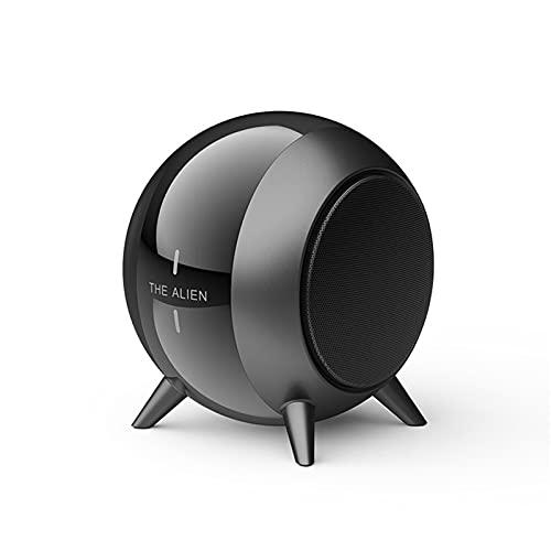 XDJ Metal Portátil Bluetooth 5.0 Altavoces, HD Estéreo Bajo Bocina Bluetooth, Inalámbrico Llamada De Voz Micrófono Incorporado, TWS Auxiliar Tfcard Cañón De Acero Pequeño Bocina Bluetooth