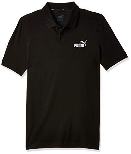 Puma Essential, Maglietta Polo Uomo, Nero (Cotton Black) (Cotone Black), XXL