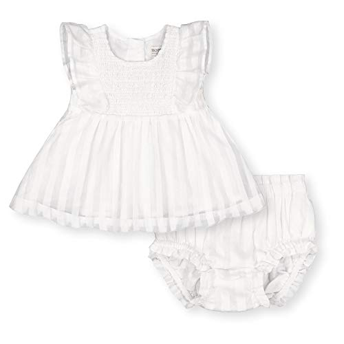 Hope & Henry Layette Baby Girl Woven Swing Top and Ruffle Bloomer 2-Piece Set