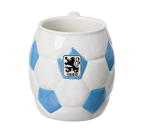 TSV 1860 München Tasse Fussball Tee/Kaffeebecher 0,3 Liter weiß blau