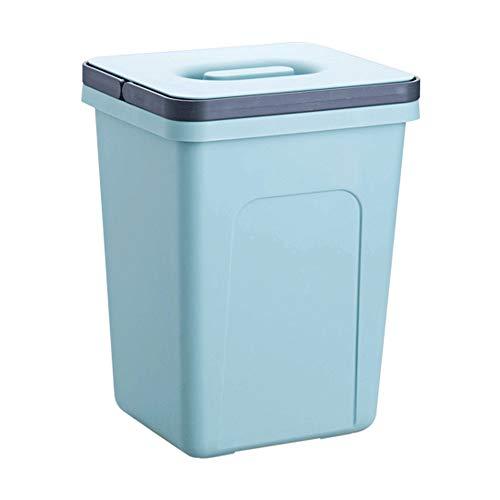 Aiyu Garbage Can Bin Qualität abnehmbaren Deckel Abfalleimer aus Kunststoff Durable Küche Abfalleimer for Bäder, Küchen, Home Offices, Schlafzimmer (Color : Blue)