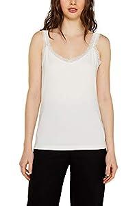 ESPRIT Damen 129Ee1K026 Top, Weiß (Off White 110), Medium (Herstellergröße: M)