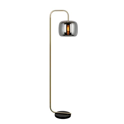 LED Arc Floor Lamp met marmeren voet 63inch Living Room Pole Verlichting Glass Lampekap Tall Standing Opknoping Light past achter de bank of in een hoek