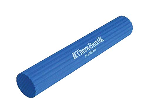 TheraBand FlexBar, Tennis Elbow Therapy Bar, Relieve Tendonitis Pain & Improve Grip Strength, Resistance Bar (Blue)
