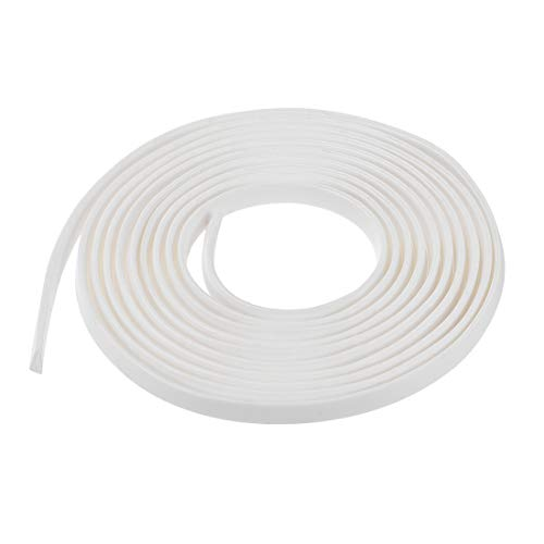 uxcell Edge Trim U Seal Extrusion, Silicone White U Channel Edge Protector Sheet Fits 0.1-1.5mm Edge 3Meters/9.84Ft Length