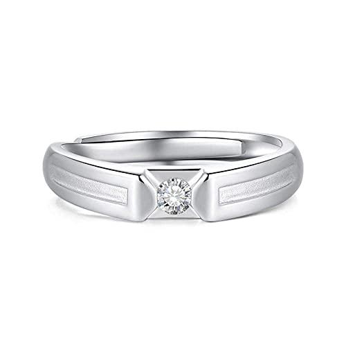 Anillos de plata esterlina 925 Anillos de boda abiertos Anillos de pareja ajustables Anillos aromáticos para mujeres Regalo de compromiso