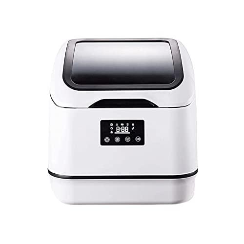 Máquina De Lavavajillas De Cocina De Escritorio Completamente Automática para El Hogar, Mini Lavavajillas, Lavavajillas Portátil De Encimera, 6 Programas, Pantalla Led, Inicio Diferido