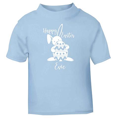 Flox T-Shirt créatif pour bébé Happy Easter personnalisé - Bleu - 2 Ans