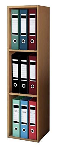 VCM Aktenregal Bücherregal Regal Standregal Büroregal Ordnerregal Schrank Büro Möbel Buche 115 x 34 x 29 cm