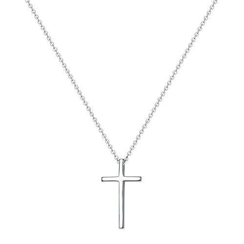 Tiny Cross Pendant Necklace for Women Simple Cross Necklaces Birthday Gifts for Women Girl Fashion Jewelry