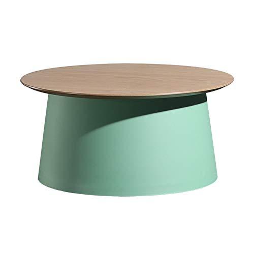 LWZ Round Coffee Table 70CM Diameter Modern Lightweight End Side Table Plastic Furniture for Bedside/Hallway/Living Room