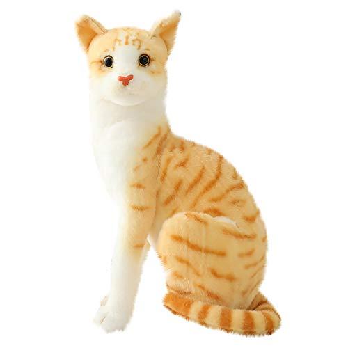 O'Vinna Plüschtier Katze, Weiches Stofftier Kätzchen Spielzeug, Kuscheltier Plüschspielzeug für Kinder, Mädchen und Jungen (30cm, Gelbe Katze)