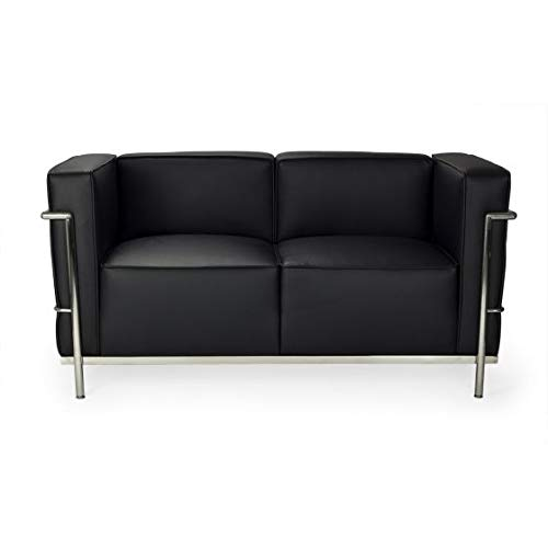 Vintageahome Sofa Gran Lecor 2-Sitzer, Schwarz
