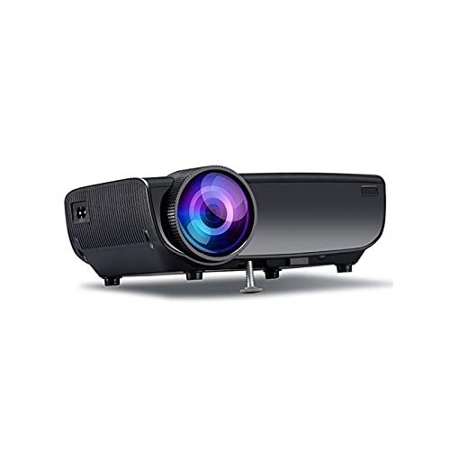 ZXNRTU Impresionante Calidad de Imagen Proyectores proyector de película de HD LCD de Cine en casa Ayuda del proyector HDMI USB VGA AV for Home Entertainment, Partido y los Juegos, Blanca