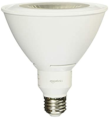 AmazonBasics 90 Watt Equivalent, Dimmable, PAR38 LED Light Bulb
