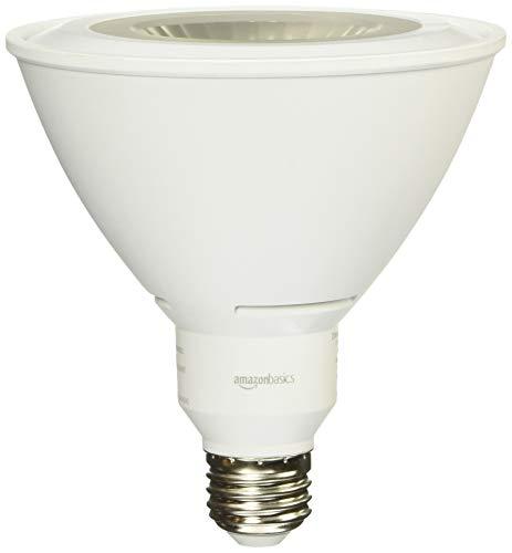 AmazonBasics 90 Watt Equivalent, Daylight, Dimmable, 15,000 Hour Lifetime, PAR38 LED Light Bulb | 2-Pack