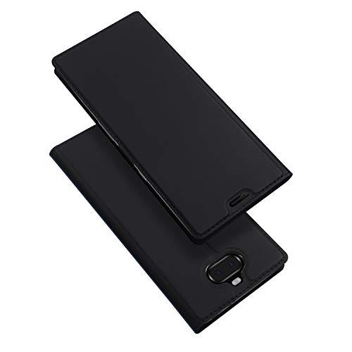 DUX DUCIS Hülle für Sony Xperia 10, Leder Flip Handyhülle Schutzhülle Tasche Case mit [Kartenfach] [Standfunktion] [Magnetverschluss] für Sony Xperia 10 (Schwarz)