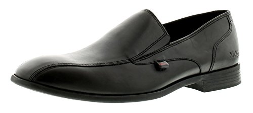 Kickers Jarle Slip Black, Zapatos de Piel Hombre, Negro, 42 EU