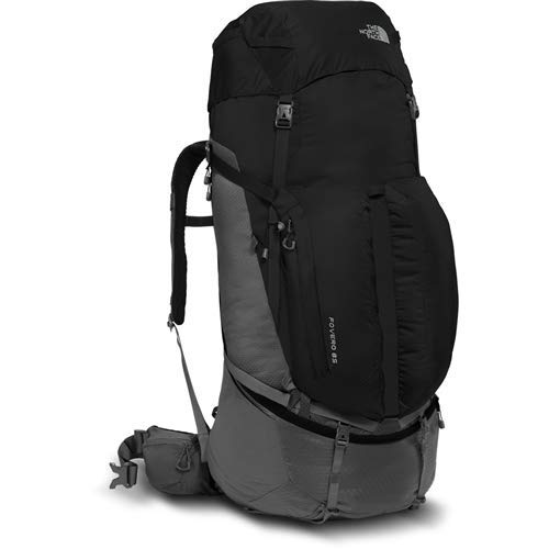 The North Face Fovero 85 Tech Hiking Backpack TNF Black/High Rise Grey S/M