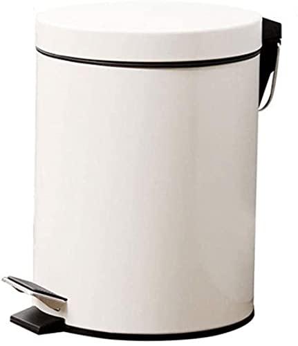 DZCGTP Juego Combinado de Bote de Basura Papelera de Reciclaje de residuos Papelera de Pedal Creativo Papelera de Oficina en casa Hotel Aeropuerto Hospital Bote de Basura Papelera Blanca