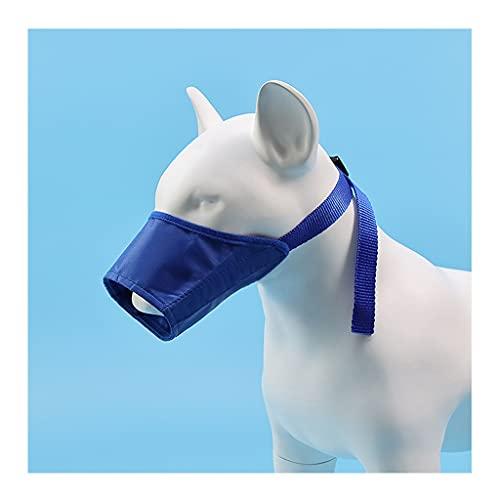 URUNI Hundemaulkorb Für Kleine Große Hunde Anti Barking Einstellbare Haustier Mund Muzles Polyester Riemen Hundezubehör (Color : Blue, Größe : 2)