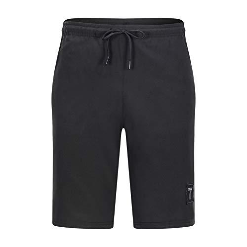 LSSM Pantalones Casuales Sueltos De Verano para Hombre, Pantalones Cortos De Cinco Puntos para Correr, Pantalones Deportivos para Hombre, Pantalones De SujecióN Finos Mujer Pantalones Negro M