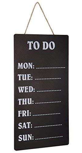 Wochenplaner TO DO auf Schreibtafel - 60x30 cm - Kreidetafel zum hängen