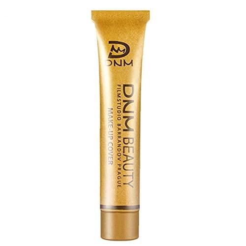 Naisedier Maquillaje Corrector Cobertura Total Fundación Suave Corrector en Crema de 14 Colores Cubrir el líquido Corrector Larga duración de Base de Maquillaje Natural Piel Blanca Manchas