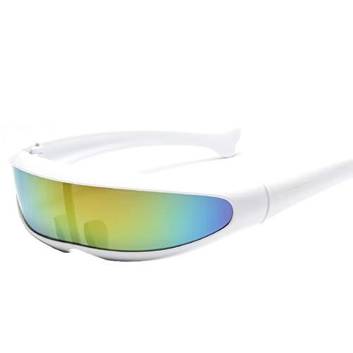 HathaWQ Futuristic Narrow Cyclops Sonnenbrille Cosplay Farbbrille Modebrille Brille für Party Halloween futuristisch schmale einäugige Delphin Sonnenbrille