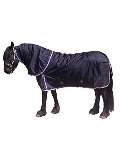 LuBa Pferdedecken® Extreme Winterdecke mit Halsteil für das Frisische Pferd Turnout 1680D Größe 215cm Futter 300gram