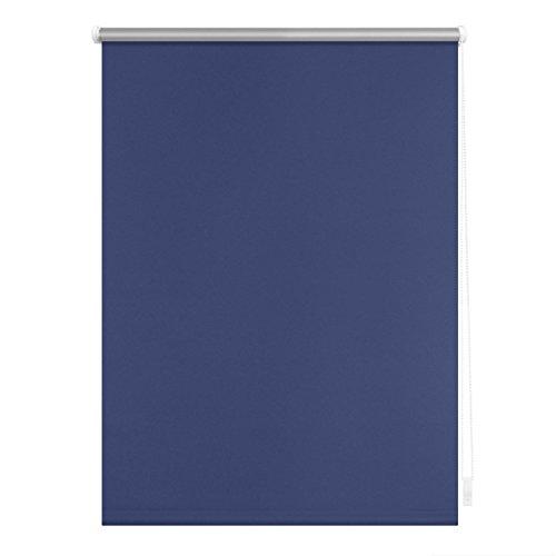 Lichtblick Verdunklungsrollo Klemmfix, 80 cm x 150 cm (B x L) in Blau, ohne Bohren, Sonnen-, Sicht-, Hitze- & Kälte-Schutz, reflektierende Thermo-Rollo Funktion, Verdunkelung für Fenster & Türen