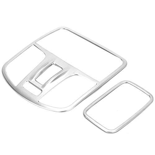 Marco de luz de Lectura Duradero ABS Ligero Plateado sin decoloración para automóvil